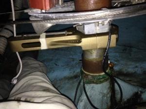 Test fit arm on shaft